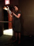 Michelle Cheever reads at the apt release party