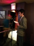 Lam Pham reads at the apt release party