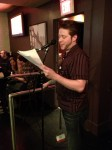 Steven LaFond reads at the apt release party